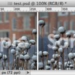 Photoshop CS6/CCでテキストレイヤーとオブジェクトレイヤーの不透明度の見え方を同じにする方法